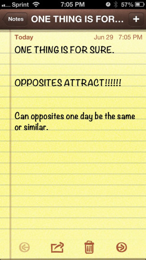 Opposites attract!!!!