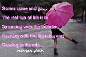 Real fun of life_dancing in the rain
