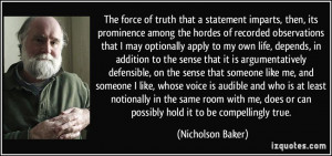 The Force Truth That...