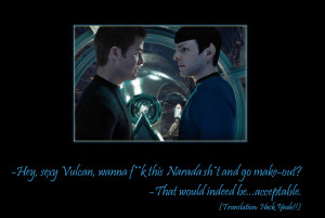 Wanna make-out, mr. Spock? by wackamotto
