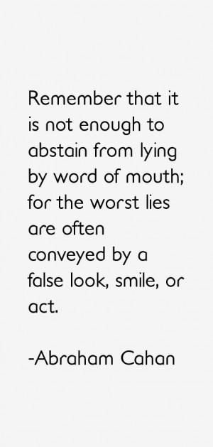 Abraham Cahan Quotes amp Sayings
