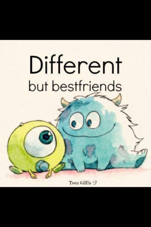 More like total opposites, but best friends