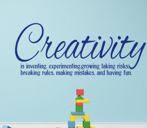 Creativity Vinyl Wall Decal Words definition quote for Home decor ...