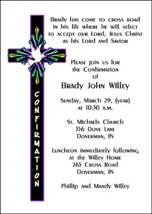 Religious Cross Confirmation Invitation Cards areBecoming Very Popular ...