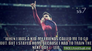 Messi quote about him in childhood