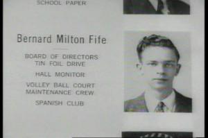 Barney Fife's high school yearbook photo.Fife High, Barneys Fife, High ...