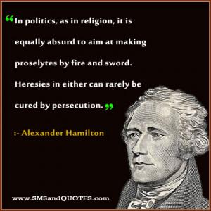 In Politics As In Religion