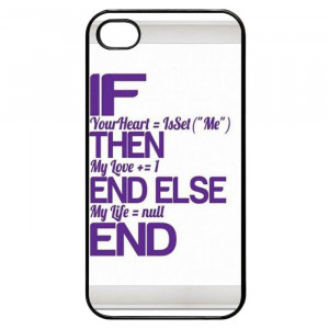 Programming Love Quotes iPhone 4 Case