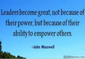 Leaders become great - Leadership Quotes Profile Picture