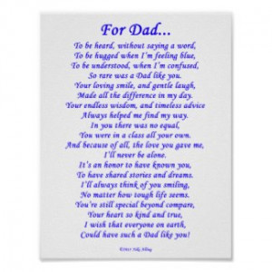 poems for dads funeral