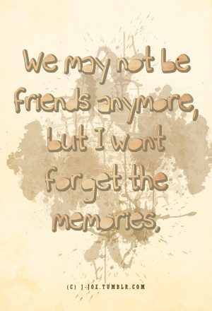 we are not friends anymore quotes