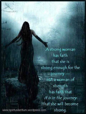 Strong Woman Has Faith Inspirational Life Quotes