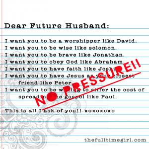 """Dear """"Dear Future Husband"""","""