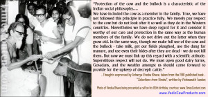 """Cow is the foundation of our economy. """" - Gyani Zail Singh"""