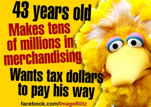 ... More Concerned with a Talking Yellow Bird than with Real Issues