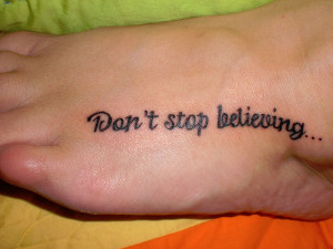25 Refined Foot Tattoos Quotes - 4