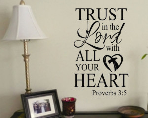 Religious Trust in the Lord Vinyl Wall Quote Lettering Decal