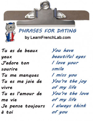 French Love Sayings With English Translation French love phrases