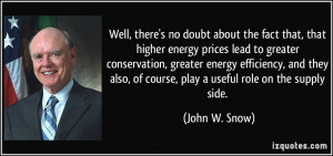 Well, there's no doubt about the fact that, that higher energy prices ...