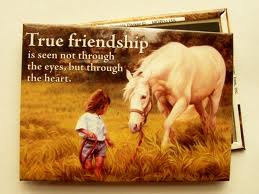 Horse 'True Friendship' Fridge Magnet by Leanin'...