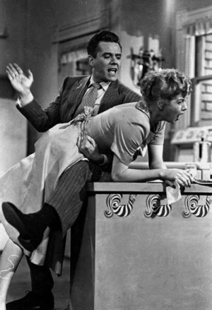 love lucy, lucille ball, lucy, monochrome, spank, spanking, vintage