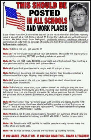 Bill Gates speech rules of life