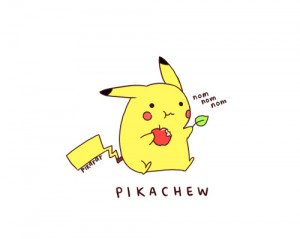 apple, cute, lol, pikachew, pikachu, pokemon, separate with comma