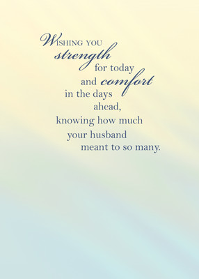 sympathy 3430 loss of husband sympathy card id 3430 front