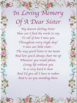 loss of a Sister--- missing my little sister