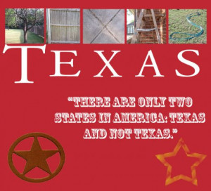 ... Texas. I added a funny little quote then uploaded some Google Image