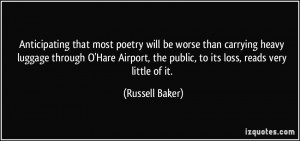 Anticipating that most poetry will be worse than carrying heavy ...