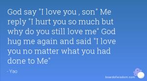 love you , son