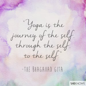 Yoga is the journey of the self, through the self, to the self ...