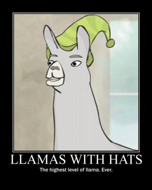 Llamas with Hats by elektri-cute14