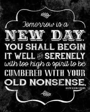 Tomorrow, a New Day