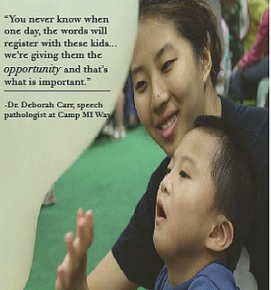 Inspirational quote from Dr. Deborah Carr, speech pathologist at Camp ...