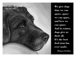 NEW Dog quote card: Chocolate Lab / Margery Facklam wisdom. $4.00, via ...