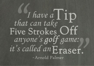 Golf quote by Arnold Palmer