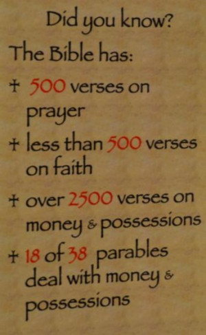 ... Money. Possessions. A vocation. And many more blessings that aren't