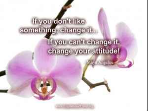 If you don't like something, change it...