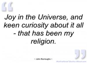 joy in the universe john burroughs