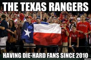 Texas Rangers: Bandwagon Fans Since 2010 Meme