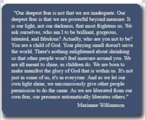 Marianne Williamson - A Poem I read to my son every night before he ...