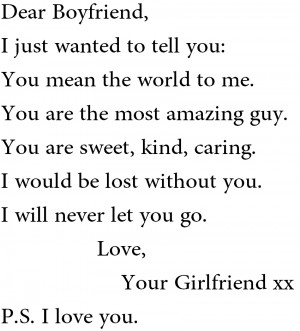 Love You Quotes And Sayings For Boyfriend