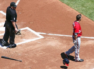 Bryce Harper ejected by John Hirschbeck, but he finds his cool later