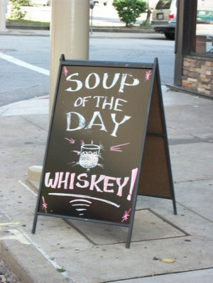 Seriously, though, how amazing would a whiskey-based soup be?