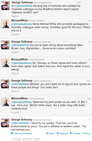 George Galloway vs Michael White