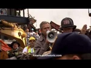 President George W. Bush's bullhorn speech