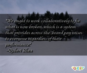 We ought to work collaboratively to fix what is now broken, which is a ...