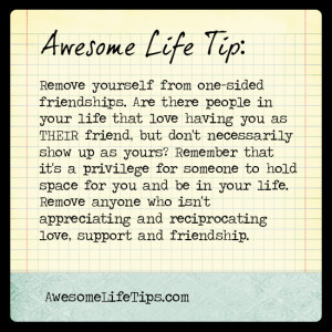 Awesome Life Tip: You Deserve a Two-Sided Relationship